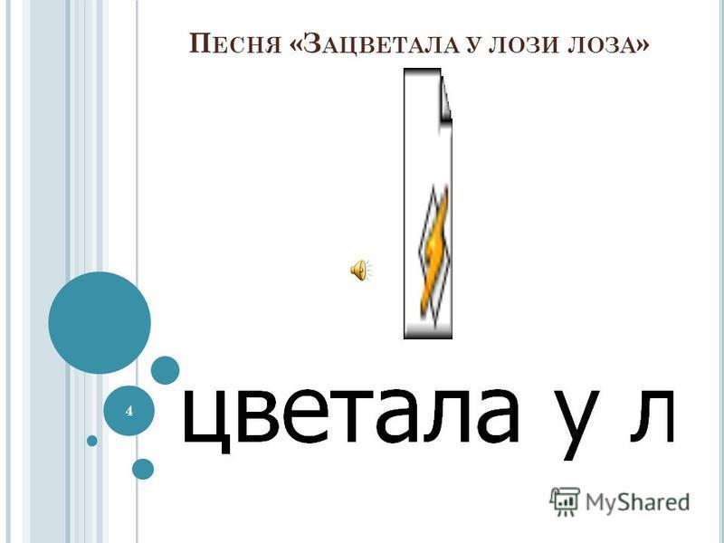 П ЕСНЯ «З АЦВЕТАЛА У ЛОЗИ ЛОЗА » 4
