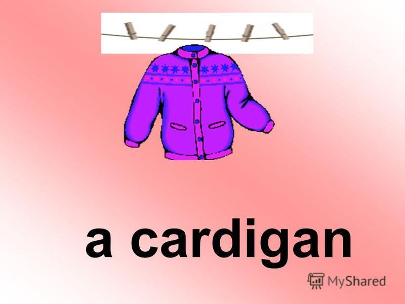 a cardigan