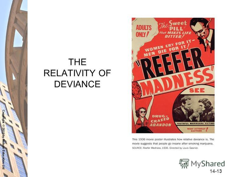 Copyright © 2011 by Nelson Education Ltd 14-13 THE RELATIVITY OF DEVIANCE