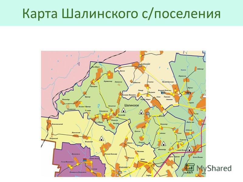 Карта Шалинского с/поселения