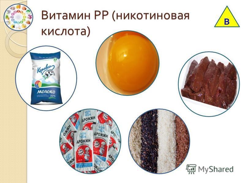 Витамин РР ( никотиновая кислота ) В