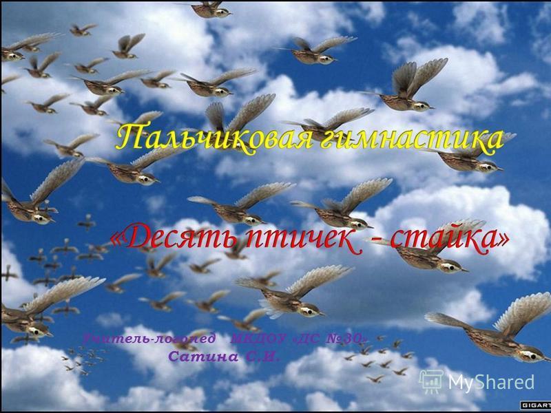 Учитель-логопед МКДОУ «ДС 30» Сатина С.И.