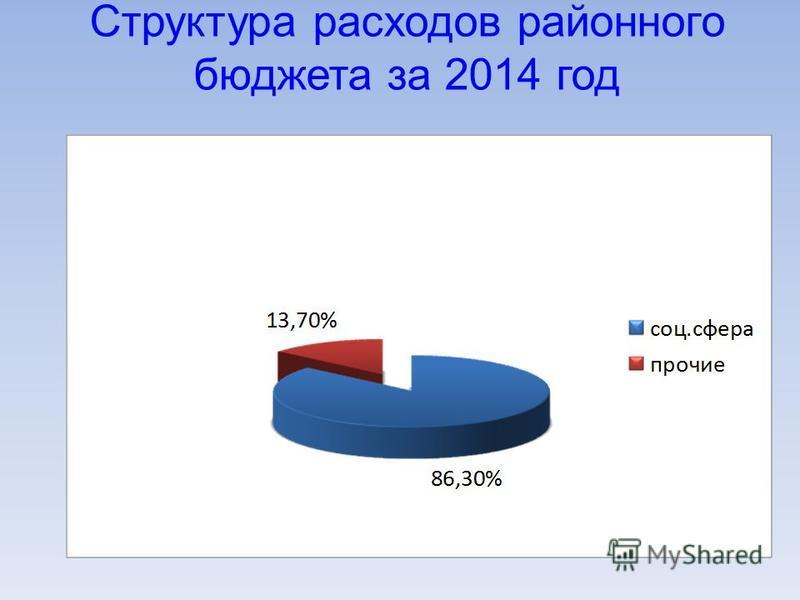 Структура расходов районного бюджета за 2014 год