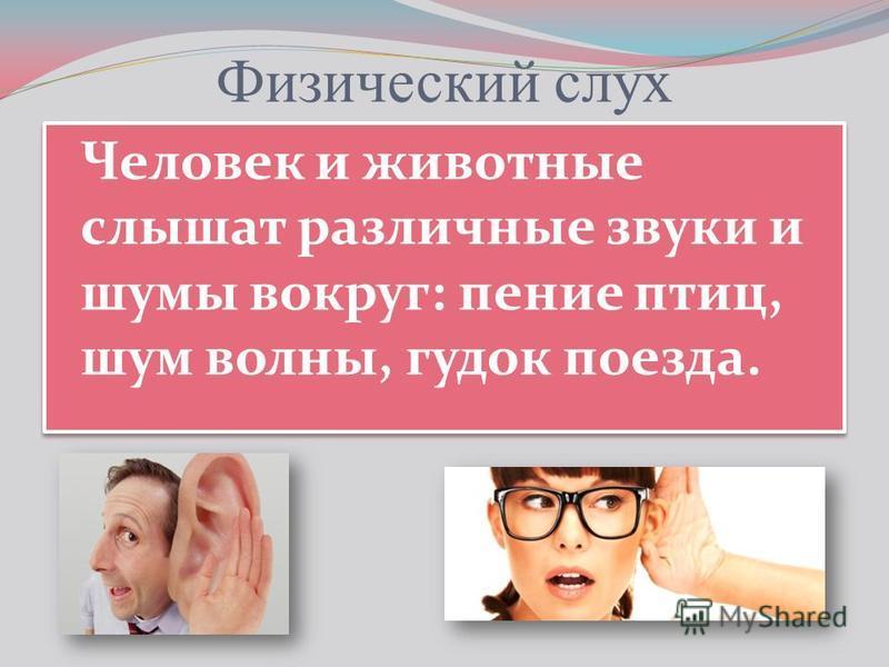 Скачать презентацию на тему слух человека и животных