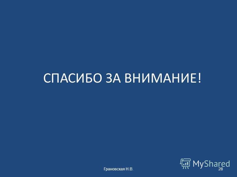 СПАСИБО ЗА ВНИМАНИЕ! Грановская Н.В.28