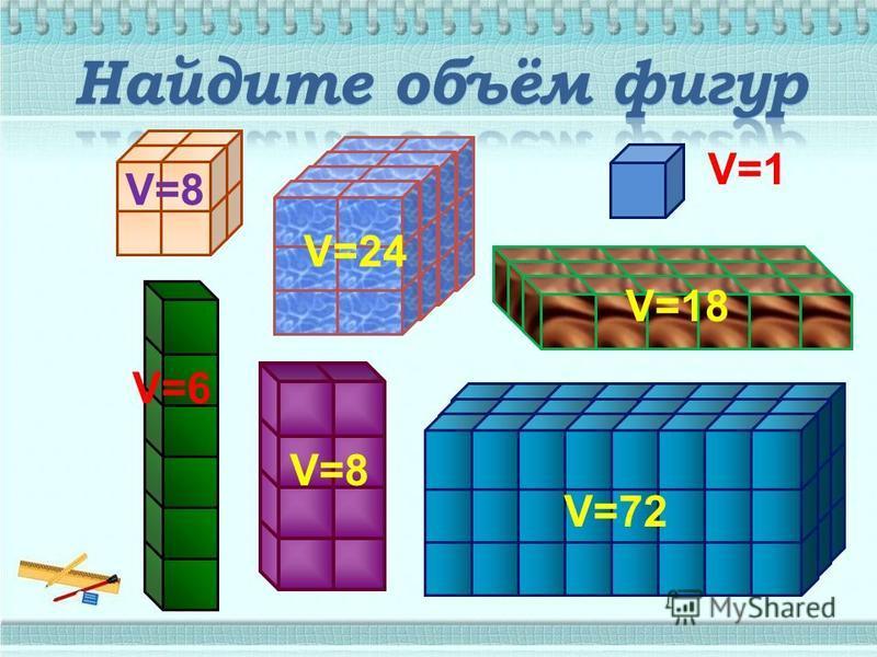 V=1 V=24 V=8 V=6 V=8 V=72 V=18