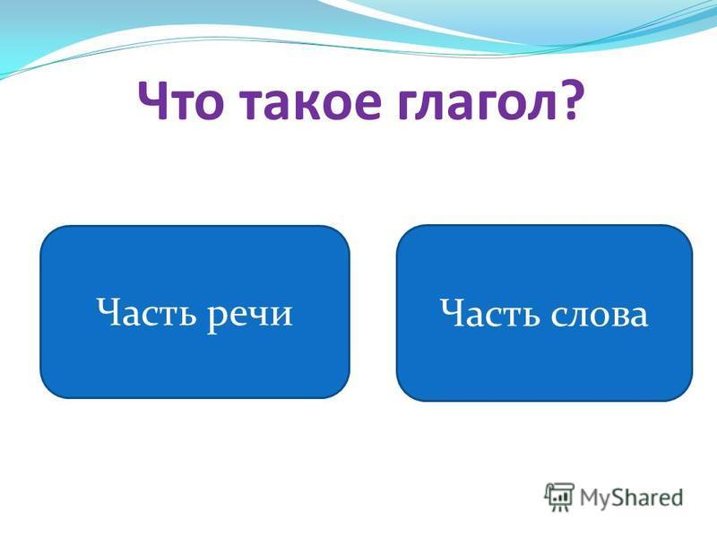 Что такое глагол? Часть речи Часть слова