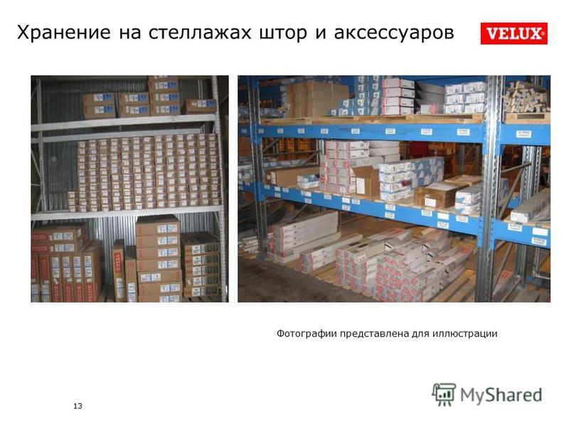 13 Хранение на стеллажах штор и аксессуаров Фотографии представлена для иллюстрации