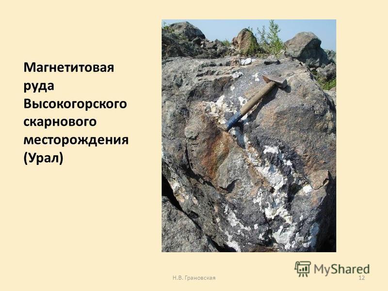 Магнетитовая руда Высокогорского оскар нового месторождения (Урал) Н.В. Грановская 12