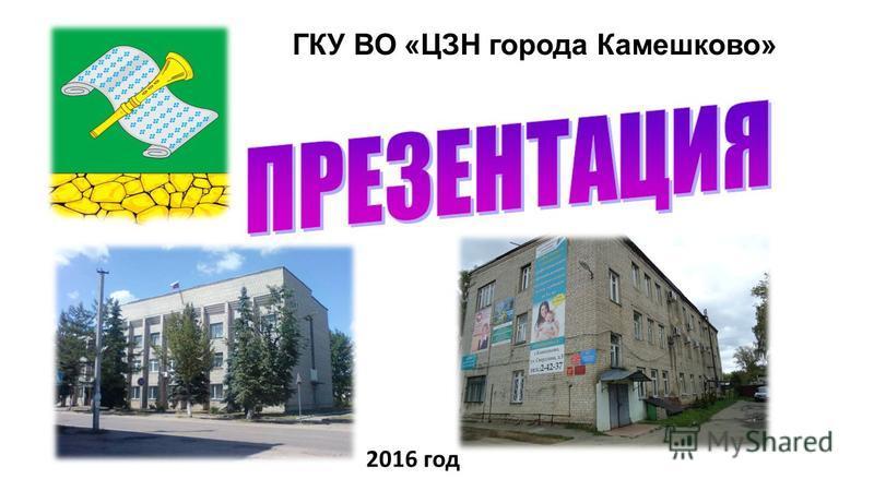 ГКУ ВО «ЦЗН города Камешково» 2016 год