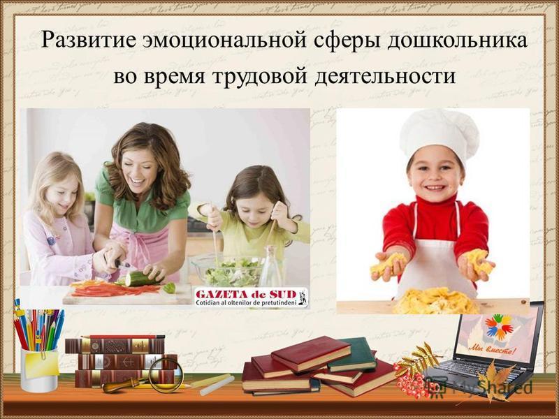 Развитие эмоциональной сферы дошкольника во время трудовой деятельности