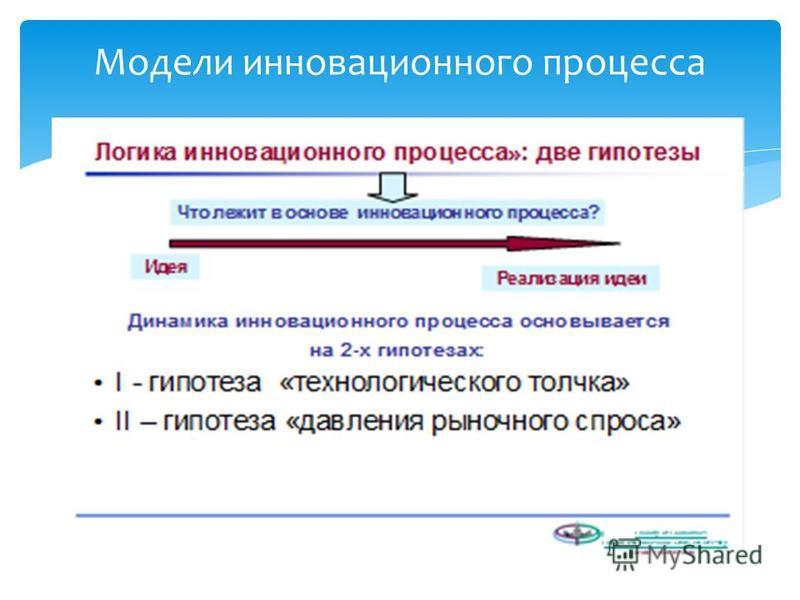 Модели инновационного процесса