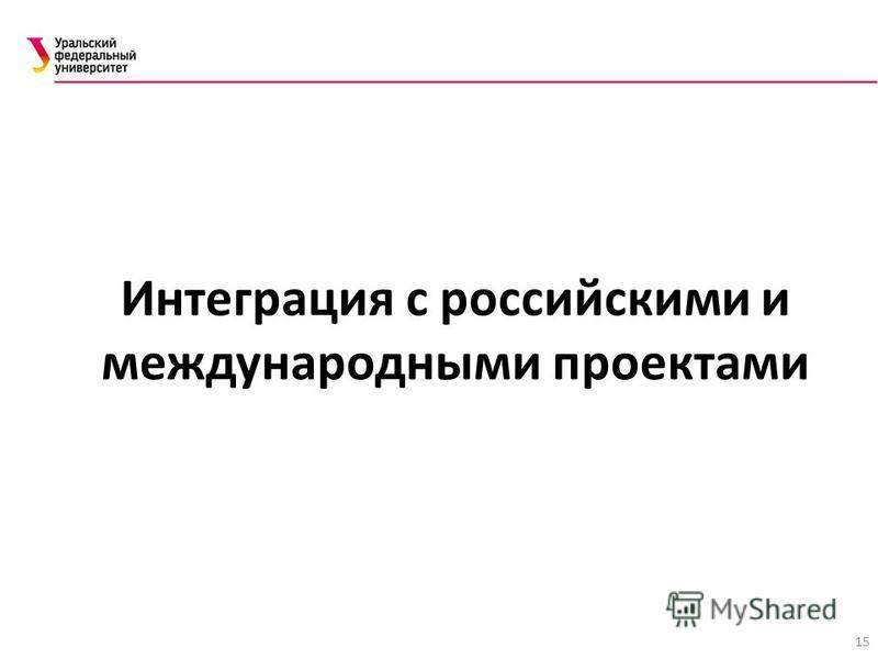 15 Интеграция с российскими и международными проектами
