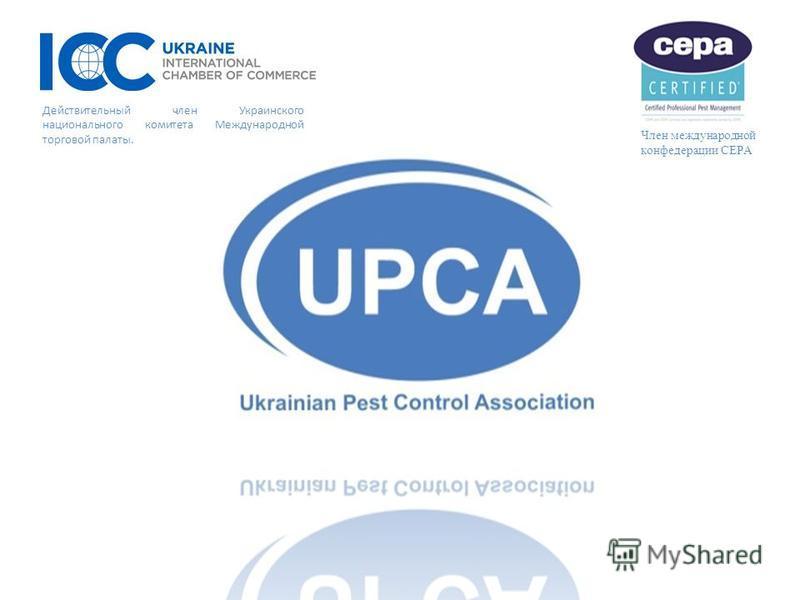 Член международной конфедерации CEPA Действительный член Украинского национального комитета Международной торговой палаты.