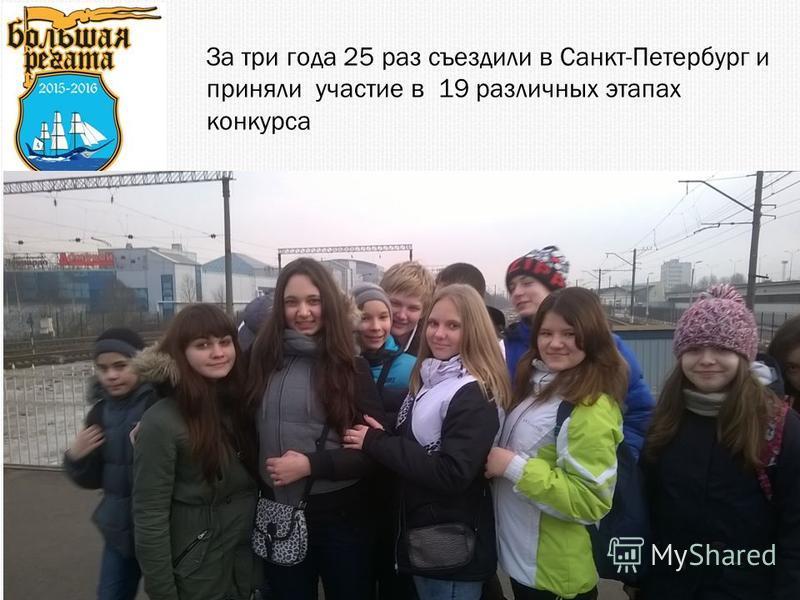 За три года 25 раз съездили в Санкт-Петербург и приняли участие в 19 различных этапах конкурса