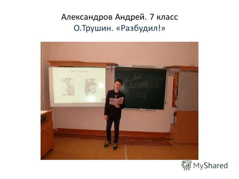 Александров Андрей. 7 класс О.Трушин. «Разбудил!»