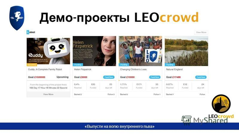 «Выпусти на волю внутреннего льва» Демо - проекты LEOcrowd