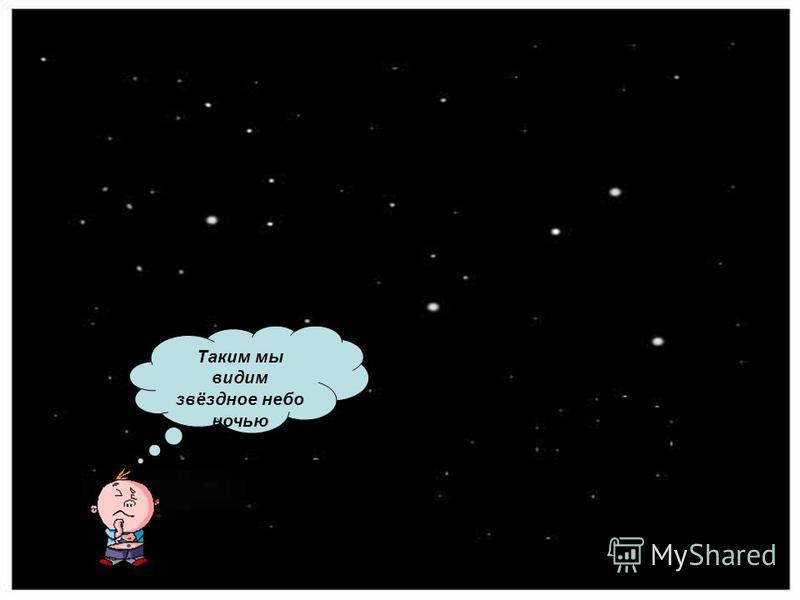 Таким мы видим звёздное небо ночью