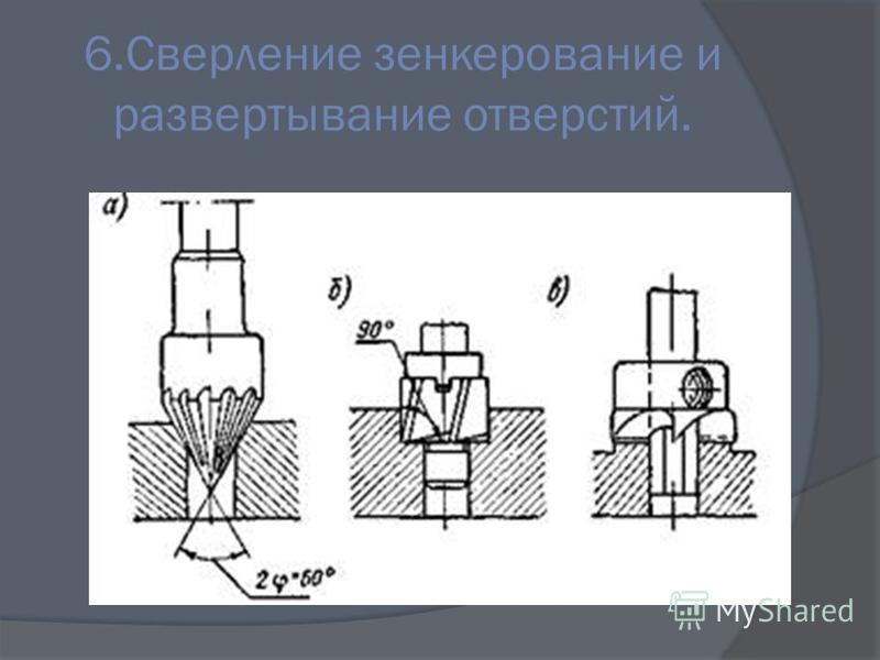 6. Сверление зенкерование и развертывание отверстий.