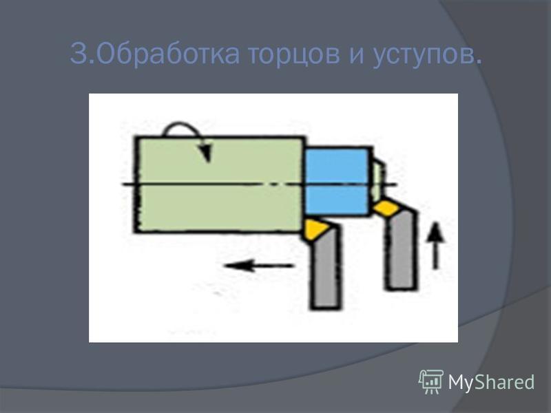 3. Обработка торцов и уступов.