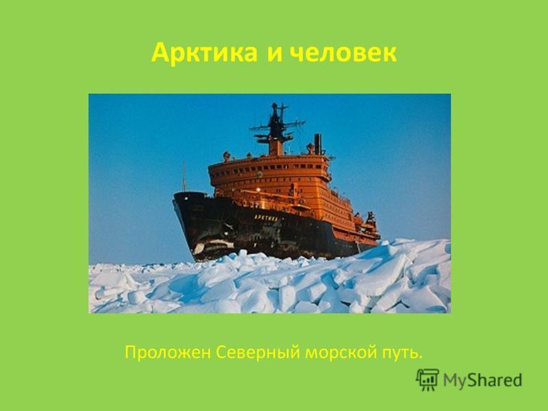 Арктика и человек Проложен Северный морской путь.