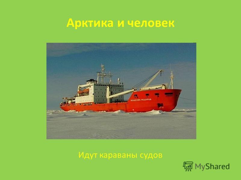 Арктика и человек Идут караваны судов