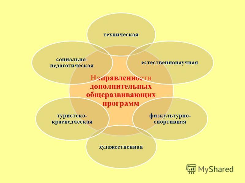 Направленности дополнительных общеразвивающих программ техническая естественно научная физкультурно- спортивная художественная туристско- краеведческая социально- педагогическая