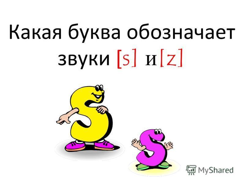 Какая буква обозначает звуки [ s] и[z]