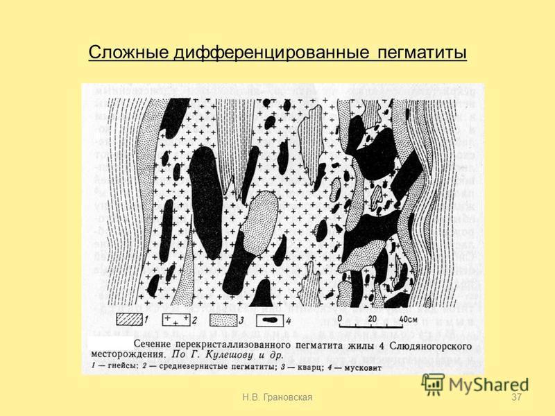 Сложные дифференцированные пегматиты Н.В. Грановская 37