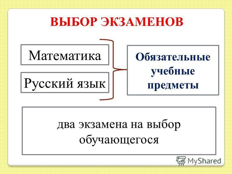 ОГЭ 2016 ВЫБОР ЭКЗАМЕНОВ до 1 марта ВЫБОР ЭКЗАМЕНОВ до 1 марта