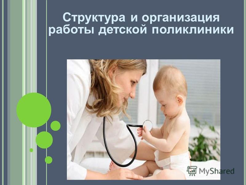 Структура и организация работы детской поликлиники