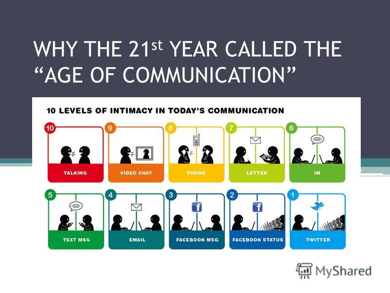 WHY THE 21 st YEAR CALLED THE AGE OF COMMUNICATION