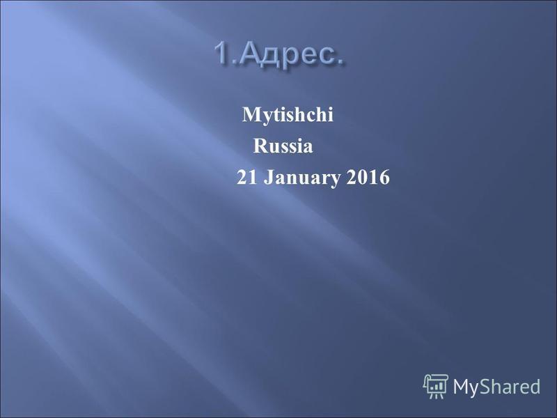 Mytishchi Russia 21 January 2016