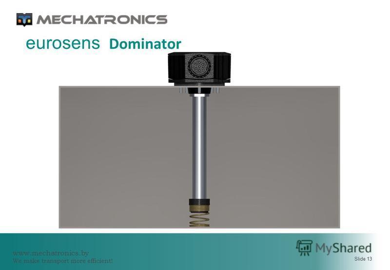 www.mechatronics.by We make transport more efficient! Slide 13 eurosens Dominator
