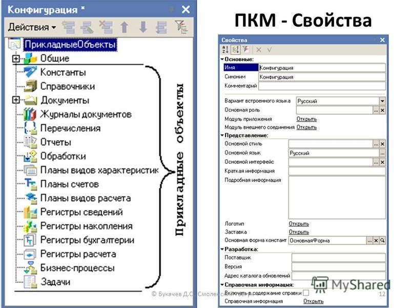 ПКМ - Свойства © Букачев Д.С., Смоленский гос. ун-т 12