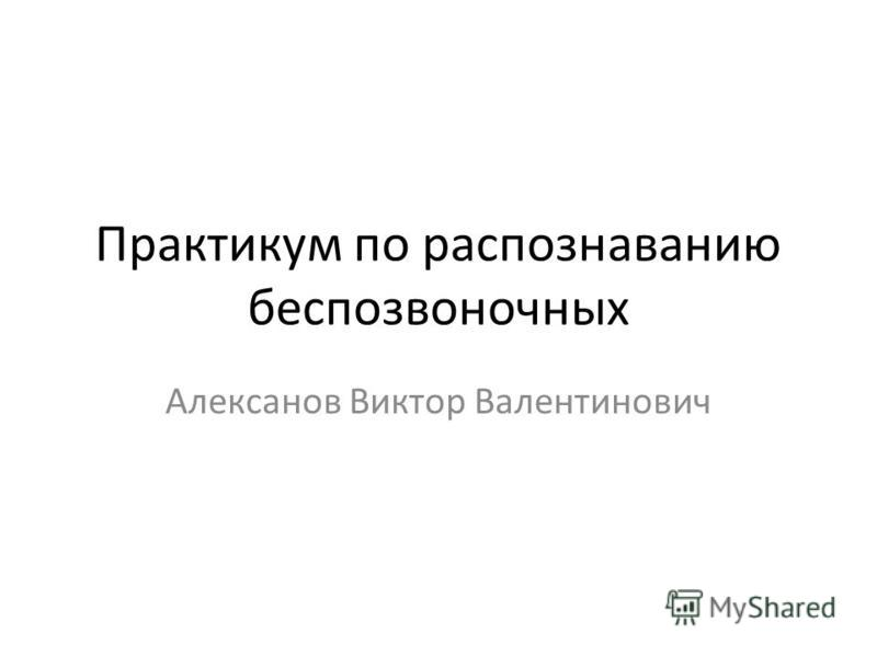 Практикум по распознаванию беспозвоночных Алексанов Виктор Валентинович