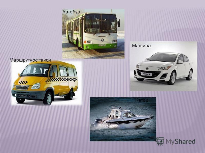 Катер Машина Автобус Маршрутное такси