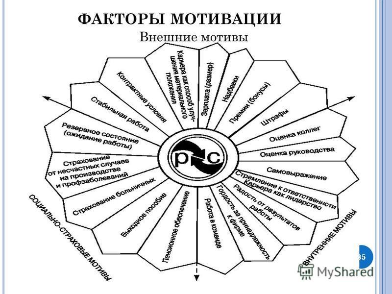 ФАКТОРЫ МОТИВАЦИИ Внешние мотивы 35