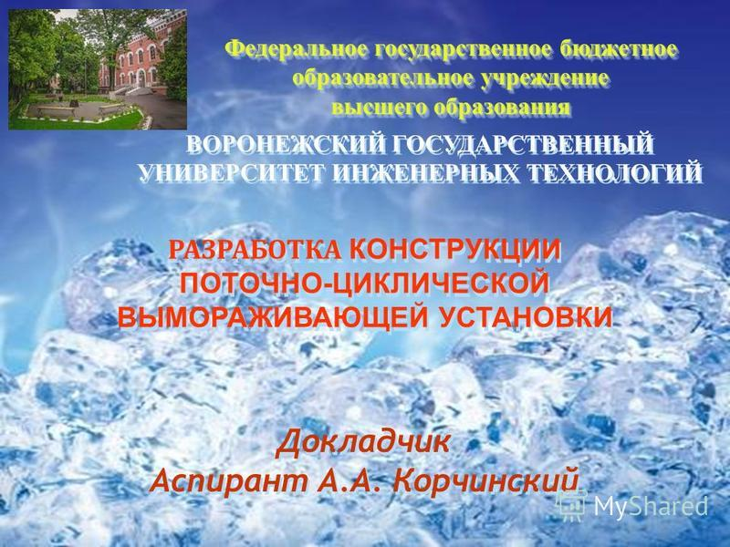 Федеральное государственное бюджетное образовательное учреждение высшего образования Федеральное государственное бюджетное образовательное учреждение высшего образования ВОРОНЕЖСКИЙ ГОСУДАРСТВЕННЫЙ УНИВЕРСИТЕТ ИНЖЕНЕРНЫХ ТЕХНОЛОГИЙ ВОРОНЕЖСКИЙ ГОСУДА
