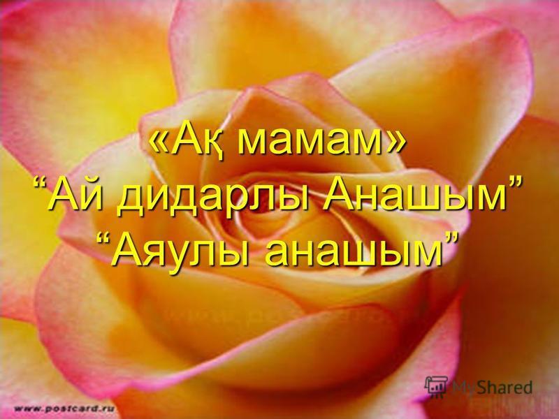 «Ақ мамам» Ай дидарлы Анашым Аяулы анашым