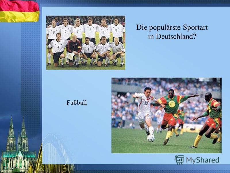 Die populärste Sportart in Deutschland? Fußball