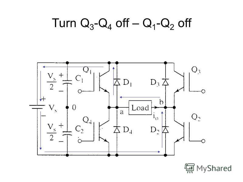 Turn Q 3 -Q 4 off – Q 1 -Q 2 off