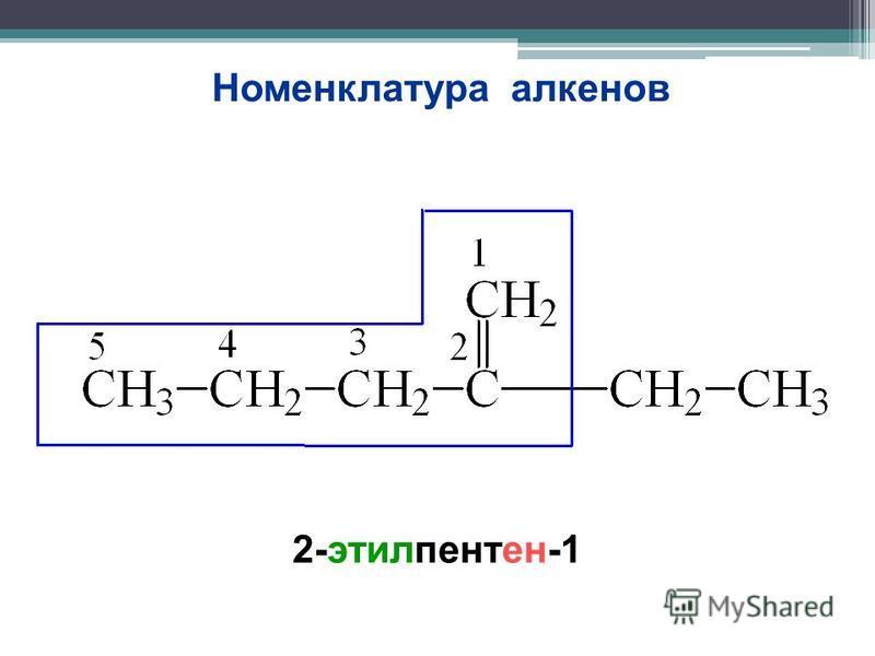 Номенклатура алкенов 2-этилпентен-1