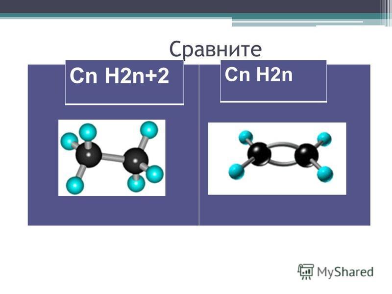 Сравните Cn H2n+2 Cn H2n