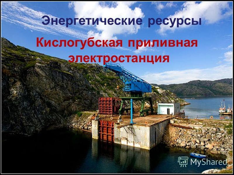 Кислогубская приливная электростанция Энергетические ресурсы