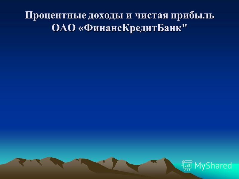 Процентные доходы и чистая прибыль ОАО «Финанс КредитБанк