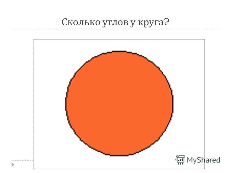 Сколько углов у круга ?