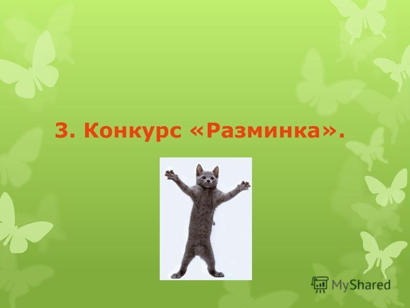 3. Конкурс «Разминка».