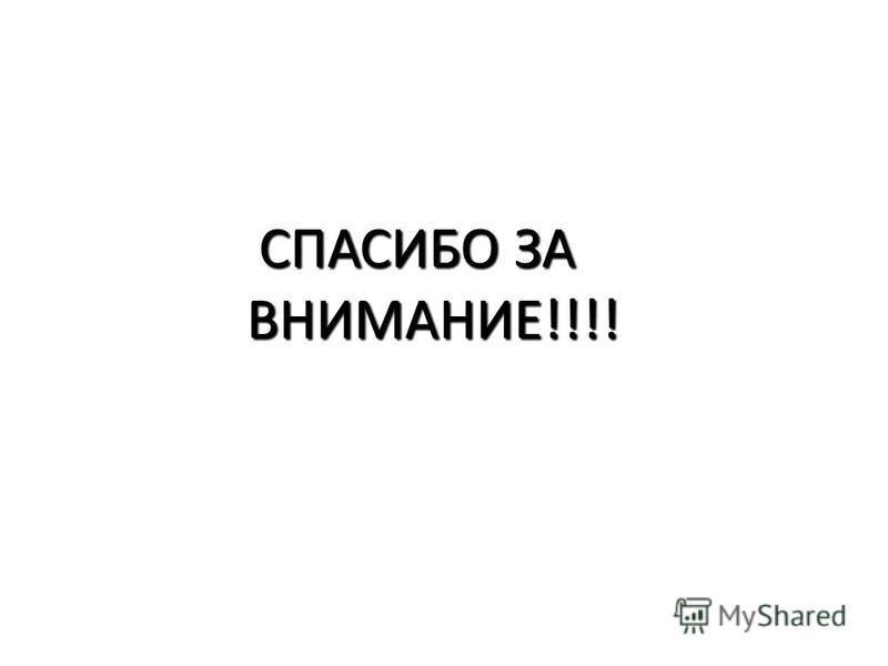 СПАСИБО ЗА ВНИМАНИЕ!!!! СПАСИБО ЗА ВНИМАНИЕ!!!!