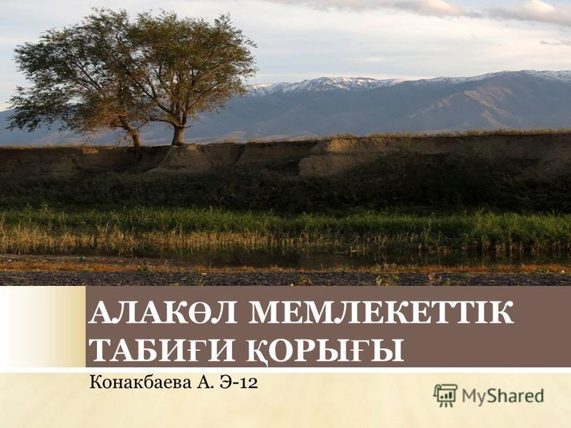 АЛАК Ө Л МЕМЛЕКЕТТІК ТАБИ Ғ И Қ ОРЫ Ғ Ы Конакбаева А. Э-12